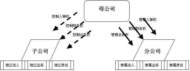 分公司和子公司的区别_子公司与母公司的关系